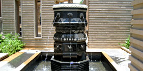 Auryaj granite stone water fountains for interior, exterior, and landscape decorations and designs