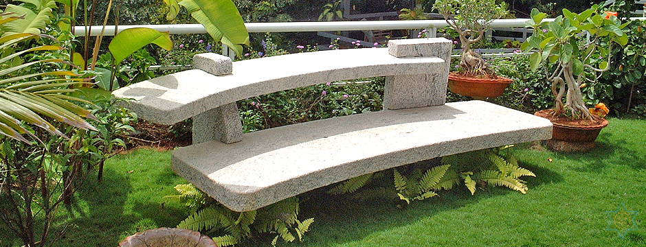 Auryaj granite stone benches for interior, exterior, and landscape designs