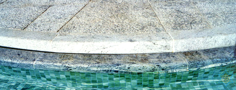 Auryaj granite stone pool borders can transform your pool space into an extension of your home